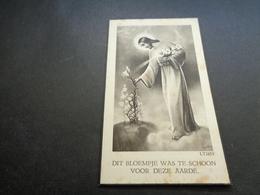 Doodsprentje ( 1122 )  Oorlogsslachtoffer  Burgerlijk Oorlog  Ledoux / Vanhalst  -  St. - Eloois - Winkel  1940 - Mariage