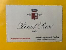 13155 - Pinot Rosé 1931 Gevrey-Chambertin - Bourgogne