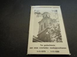 Doodsprentje ( 1130 )  Overledenen Van Lokeren  1980 - Huwelijksaankondigingen
