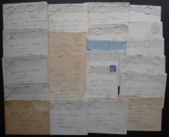 La Roche Sur Yon 1939 1940 Lot De 22 Lettres Au Soldat Maurice Poiraud à Différentes Adresses, Voir Détail - WW II
