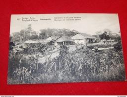 CONGO BELGE  -  Habitations  De Planteurs Indigènes  - Woningen Van Inlandse Planters - Belgisch-Congo - Varia