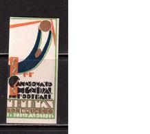World Cup-1930, Uruguay,  Vignette , Football, Soccer, Fussball,calcio, MHN(**) - (3) - 1930 – Uruguay