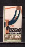 World Cup-1930, Uruguay,  Vignette , Football, Soccer, Fussball,calcio, MHN(**/*) - (5) - Fußball-Weltmeisterschaft