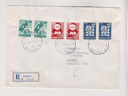 YUGOSLAVIA,1967 ZAGREB  Registered Cover NEW YEAR - Briefe U. Dokumente