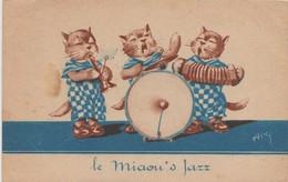 MUSIQUE. JAZZ. CPA     LE MIAOU'S JAZZ. - Muziek En Musicus