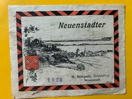 13169 - Neuenstalder 1928 H.Hiltpolt Neuenstadt - Etichette