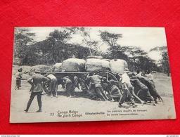 CONGO BELGE -   ELISABETHVILLE -  Les Premiers Moyens De Transport  - De Eerste Vervoermiddelen - Congo Belge - Autres