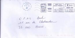 "65 - HAUTES PYRENEES - OBL. NEOPOST NSC ""LA POSTE 41847A/2013.15"" M M  (TARBES) - Sellados Mecánicos (Publicitario)"