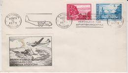 Argentina 1973 1st Flight Of Hercules C-130 To Antarctica Argentina, Label,  Ca 15 Abr 1973 Cover (46945) - Voli Polari