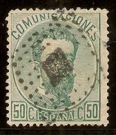 España Edifil 126 (º)  50 Céntimos Varde  Corona,Cifras Y Amadeo I  1872  NL583 - 1870-72 Régence