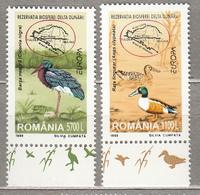 EUROPA 1999 Romania Birds Map Mi 5414/5415 Yv 4541/4542 MNH (**) #17816 - Birds