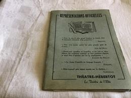 Représentation Officielle Théâtre Hedertot Le Théâtre De L'élite Paris Caligula Albert Camus - Programmes
