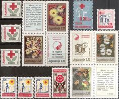 Yugoslavia 1990 Complete Surcharge Stamps MNH Michel #177/191 - Portomarken