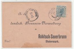 Austria Pre-printed Reply Postcard Posted 1905 Bled (Veldes) To Rohitsch-Sauerbrunn (Rogaška Slatina) B200405 - Slovenia