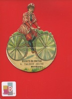 Bordeaux Biscuits Du Château Talbot Joli Chromo Decoupis Système Femme Bicyclette Vélo Cyclisme VELO - Snoepgoed & Koekjes