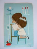 Communie Anita Delbaen 1965 Ruisbroek Illustrator Jaklien Image Pieuse Holy Card Santini Lannoo Iris 1 - Images Religieuses