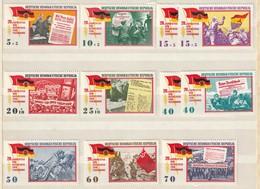 DDR 1965 Michel Nr. 1102-10, Alle  ** Postfrisch, Befreiung Vom Faschismus, Kompletter Satz - Ungebraucht