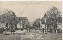 Carte Postale Ancienne De Rouen La Place Saint Marc - Rouen