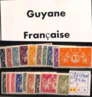 [816796]TB//**/Mnh-France (colonies) 1945 - N° 182/200, Guyane Française, Série De Londres, Animaux Divers, Armoiries, S - Französisch-Guayana (1886-1949)