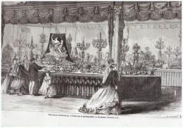 Gravure  1867  Orfevrerie  Or  Orfevre LA MAISON CHRISTOFLE Argenterie Couverts - Ohne Zuordnung