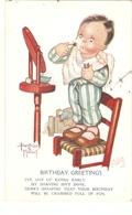 """Beatrice Mallet. Little Boy Shaving"" Tiuck Birthday Greetings Series PC # 699 - Mallet, B."