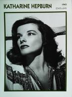 Katharine HEPBURN (1945)   Portrait Star Cinéma . Photo-Fiche Filmographie . Collection Edito Service - Foto