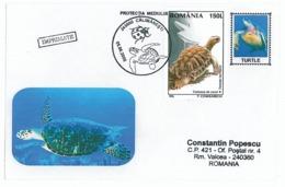 COV 60 - 669 TURTLE, Romania - Cover - Used - 2006 - Tortues