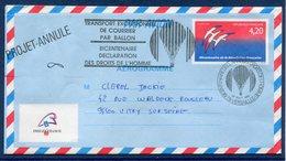 France - Aérogramme - Bicentenaire De La Révolution Française - Projet Annulé - PhilexFrance - Poste Aérienne - 1989 - Airmail Stationery