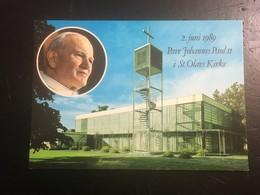 Noruega 1989 Pave Johannes Paul II . Juan Pablo II Visita. - Norvegia