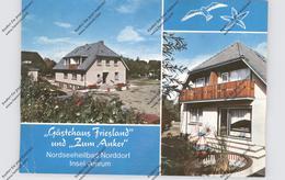 2278 NORDDORF / Amrum, Gästehaus FRIESLAND Und ZUM ANKER, Druckstelle - Nordfriesland