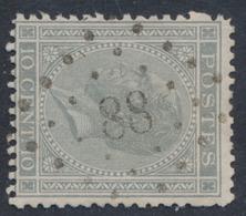 """émission 1865 - N°17 Obl Pt 88 """"Court-St-Etienne"""". TB / COBA : 25 - 1865-1866 Profil Gauche"""