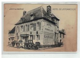 02 COUCY LE CHATEAU HOTEL DE LA POMME D OR VOITURE AUTO GARAGE - France