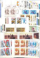 1986. USSR/Russia, Complete Year Set 1986, 4 Sets In Blocks Of 4v Each + Sheetlets, Mint/** - 1923-1991 USSR
