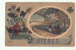 CPA (83) Un Bonjour De Hyères - Train - Hyeres