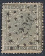 """émission 1865 - N°17 Obl Pt 203 """"La Hulpe"""". Superbe ! / COBA : 20 - 1865-1866 Profil Gauche"""