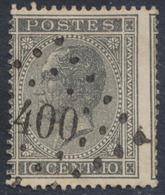 """émission 1865 - N°17 Obl Pt 400 """"Westerloo"""" - 1865-1866 Profiel Links"""