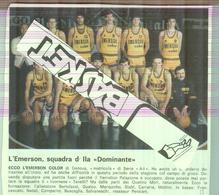 EMERSON..DOMINANTE 1979...TEAM...PALLACANESTRO....VOLLEY BALL...BASKET - Trading Cards