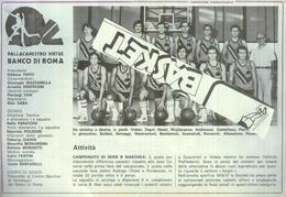 BANCO DI ROMA.. 1979...TEAM...PALLACANESTRO....VOLLEY BALL...BASKET - Trading Cards
