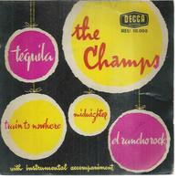"""45 Tours EP -  THE CHAMPS -  DECCA 10008  -   """" TEQUILLA """" +  3 - Autres - Musique Anglaise"""