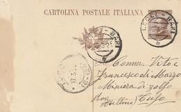 1926. Annullo Ambulante LECCE - BARI,  Su Cartolina Postale - Storia Postale
