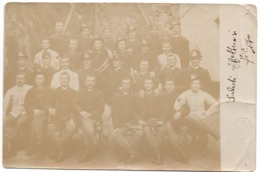 Militaire Italiano  C.1900 Musique Militaire Fanfare Carte Photo Vue U MONTI - PINEROLO - Uniformi