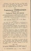 Austruweel, Ekeren-Leugenberg, 1949, Franciscus Verbaenen, De Moor - Images Religieuses