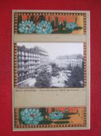 """42 - SAINT ETIENNE -  ---  LITHO ... - """" PLACE DORIAN ET L' HOTEL DE FRANCE """" - -- RARE --- - Saint Etienne"""
