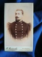 Photo CDV Florent Mieseienski à Avignon - Militaire Soldat Du 58e D'infanterie, Circa 1890-95 L498A - Photographs