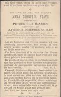 Austruweel, Hoogboom, 1944, Anna Staes, Hanssen, Kuylen - Images Religieuses