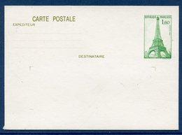 Entier Postale - Carte Postal - Paris - Tour Eiffel - 1982 - Entiers Postaux