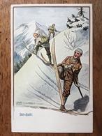 (ski) Carl MOOS: Conversion à Ski Dans La Montée. Carte Neuve, Vers 1905, état SUP. - Moos, Carl