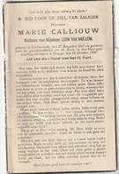 Lichtervelde, 1940, Marie Calliouw, Van Mullem - Images Religieuses