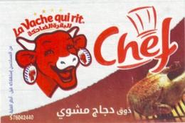 """Algérie - Etiquette De Fromage """"La Vache Qui Rit - Grosse Tête"""". - Fromage"""