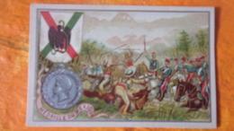 CHROMO SERIE MEDAILLE DU MEXIQUE MILITAIRE - Chromos